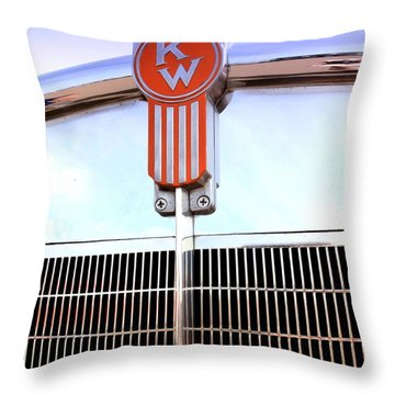 Kenworth Insignia And Grill Throw Pillow