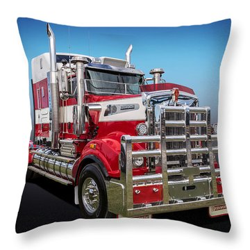 Throw Pillow featuring the photograph Kenworth by Keith Hawley