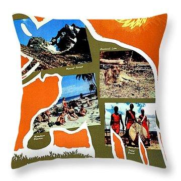 Kenya, Make A Date With A Sun Throw Pillow