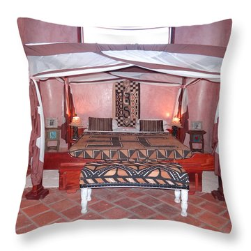 Kenyan African Traditional Double Bed Throw Pillow