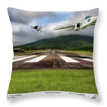 Kep Field Air Show Throw Pillow by Peter Chilelli