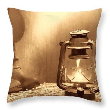 Kerosene Lamp Throw Pillow