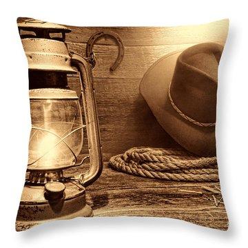 Kerosene Lantern Throw Pillow