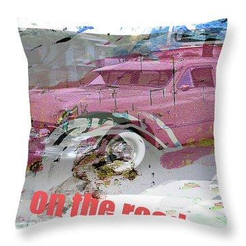 Kerouac Poster  Throw Pillow