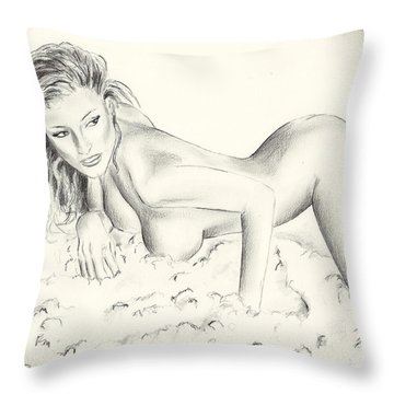 Kerri Kendall Throw Pillow
