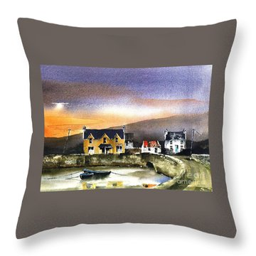 Kerry... Beara. Killmakilloge Harbour Throw Pillow
