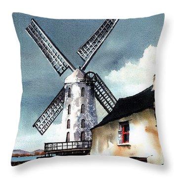 Kerry Windmill At Blennerville Throw Pillow