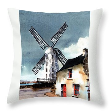 Kerry Windmill At Blennerville Throw Pillow