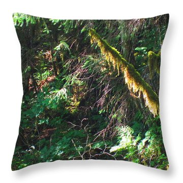 Ketchikan Green Throw Pillow