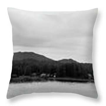 Ketchikan Harbor Throw Pillow