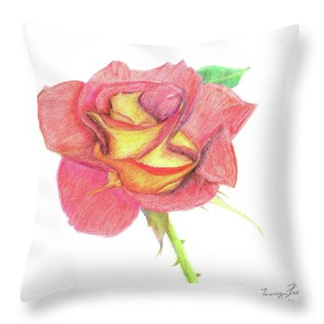 Ketchup And Mustard Rose Throw Pillow