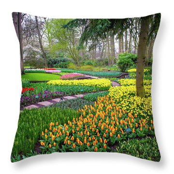 Keukehof Botanic Garden 2015 Throw Pillow