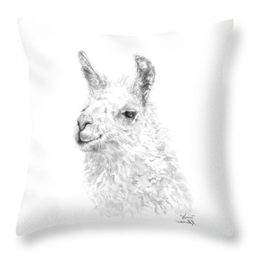 Throw Pillow featuring the drawing Kevin by K Llamas