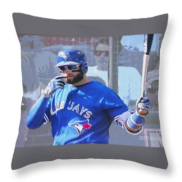 Kevin Pillar At Bat Throw Pillow