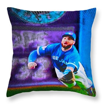 Kevin Pillar In Action II Throw Pillow