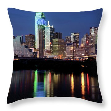 Kevin's Dallas Skyline Throw Pillow