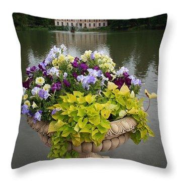 Kew Gardens Scene Throw Pillow