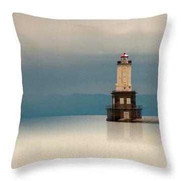Keweenaw Waterway Lighthouse Throw Pillow