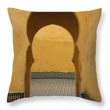Throw Pillow featuring the photograph Key Hole Doors by Ramona Johnston