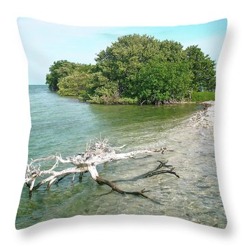 Key Largo Out Island Throw Pillow