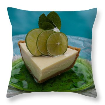 Key Lime Pie 25 Throw Pillow
