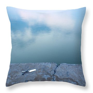 Key On The Lake Shore Throw Pillow