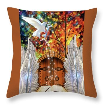 Key To The Word Throw Pillow