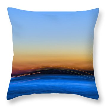 Key West Abstract Throw Pillow