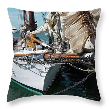 Throw Pillow featuring the photograph Key West Appledore Sailboat by Dennis Dame