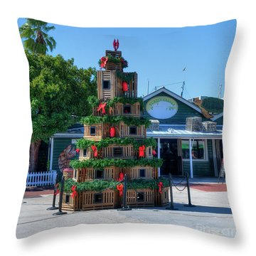 Key West Christmas Throw Pillow