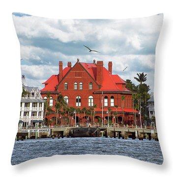 Throw Pillow featuring the photograph Key West Custom House by Bob Slitzan