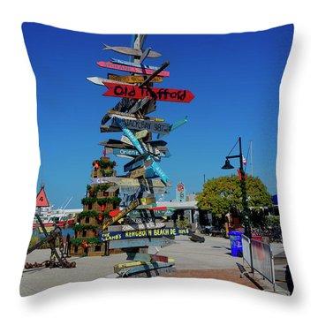 Key West Destination Sign Throw Pillow