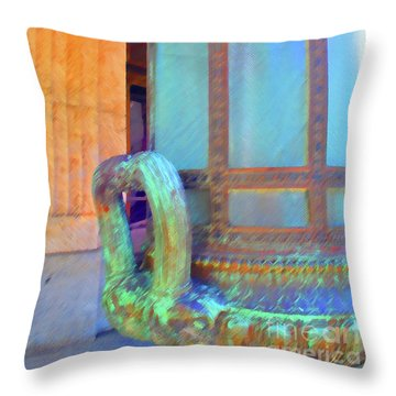 Throw Pillow featuring the photograph Key West Federal by Jost Houk