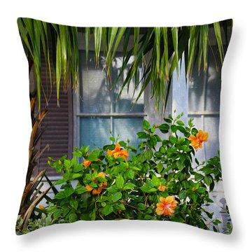Key West Garden Throw Pillow