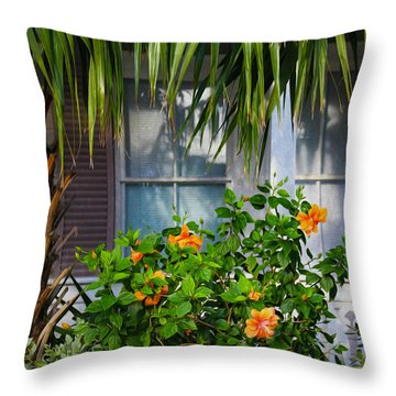 Key West Garden Throw Pillow