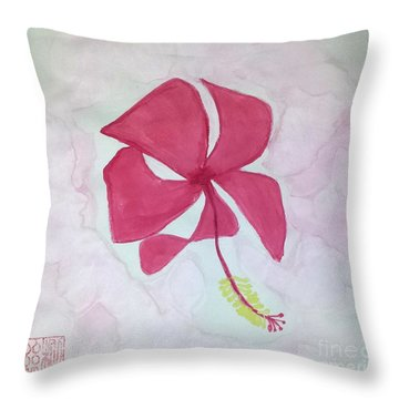 Key West Hibiscus Throw Pillow