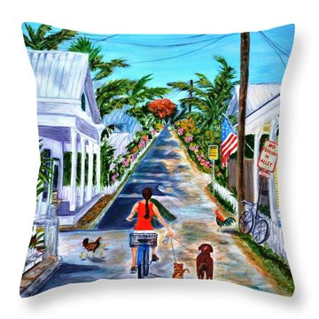 Key West Lane Throw Pillow