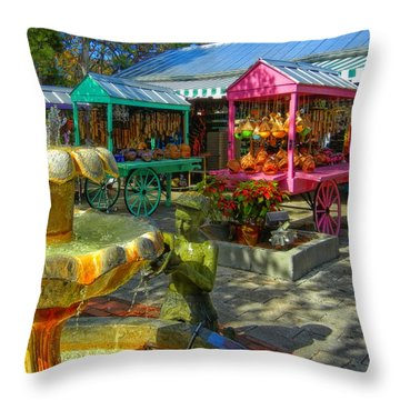 Key West Mallory Square Throw Pillow