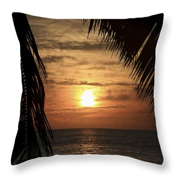 Key West Palm Sunset 2 Throw Pillow