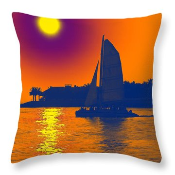 Key West Passion Throw Pillow
