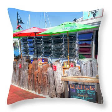 Key West Raw Bar Throw Pillow