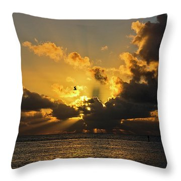 Key West Sunrise 39 Throw Pillow