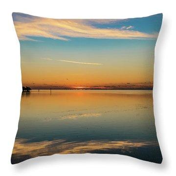 Throw Pillow featuring the photograph Key West Sunrise 46 by Bob Slitzan
