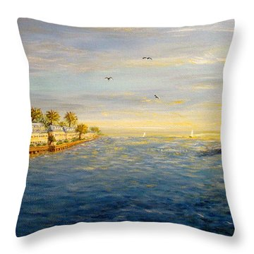 Key West Sunset Throw Pillow by Leea Baltes