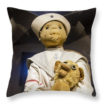 Key Wests Robert The Doll Throw Pillow
