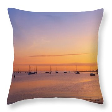 Throw Pillow featuring the photograph Keyport Harbor Sunrise  by Michael Ver Sprill