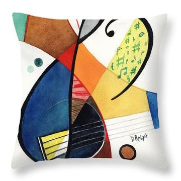 Keys And Clef Throw Pillow