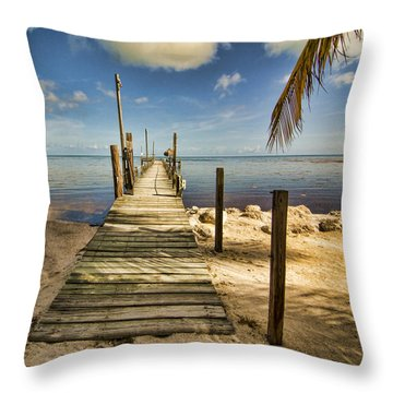Throw Pillow featuring the photograph Keys Dock by Don Durfee