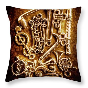 Keys Of A Symphonic Orchestra Throw Pillow