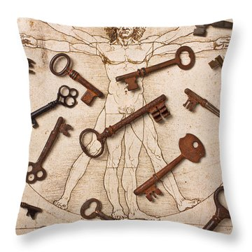 Keys On Artwoork Throw Pillow by Garry Gay